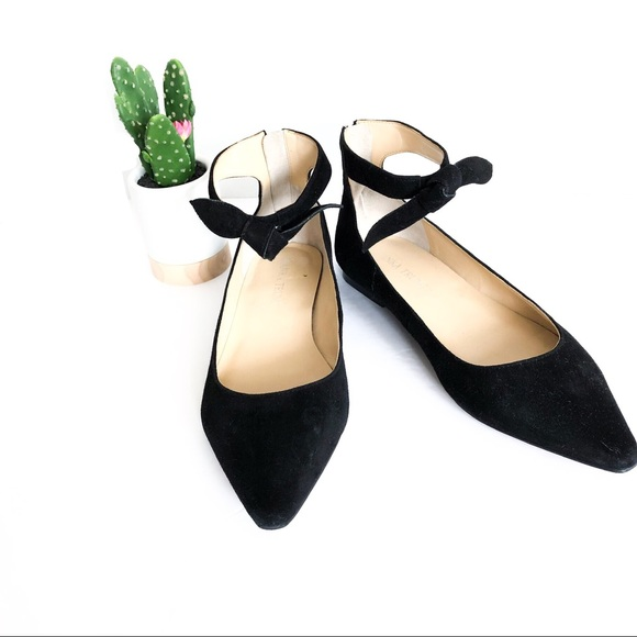 b0f05e98433 IVANKA TRUMP|Tramory Ankle Strap Pointed Toe Flats